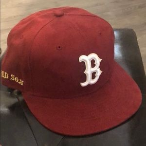 Suede Boston Red Sox New Era 7 3/8 hat